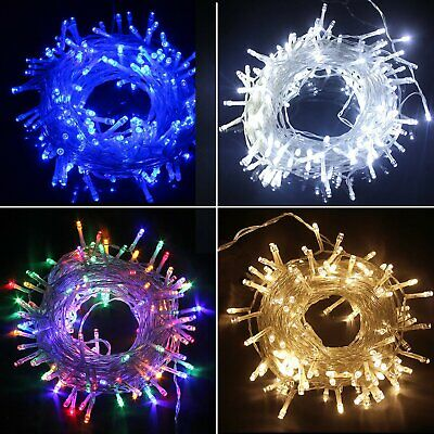 Waterproof String Fairy Lights 20-1000 LED Solar Power Battery Plug In Outdoor • 6.99£