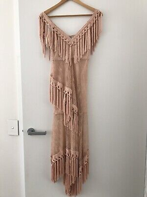AU180 • Buy ALICE MCCALL Whisper Dress Nude Pink Size 4 - As New