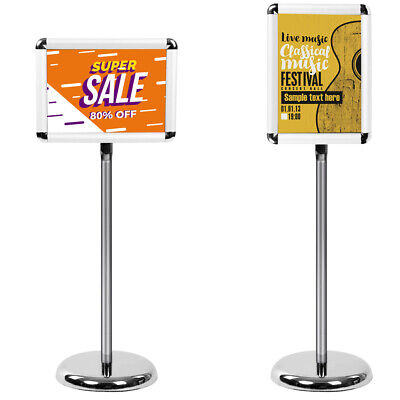 A4 Floor Standing Menu Holder Snap Show Frame Poster Clip Display Stand Sign • 18.89£