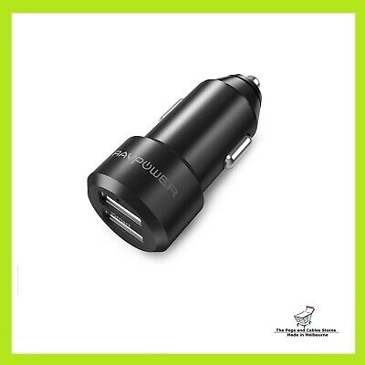 AU19.95 • Buy Ravpower USB Car Charger RAVPower 24W 4.8A Metal Dual Car Adapter ISmart 2.0