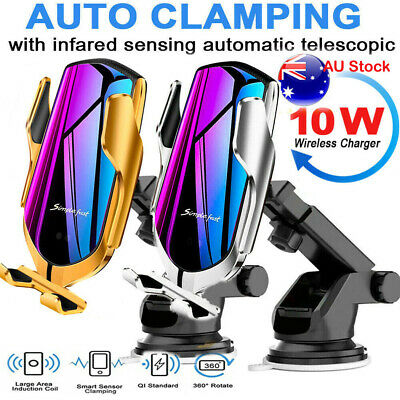 AU25.99 • Buy AU Automatic Clamping Wireless QI Car Charge Charger Mount Air Vent Phone Holder