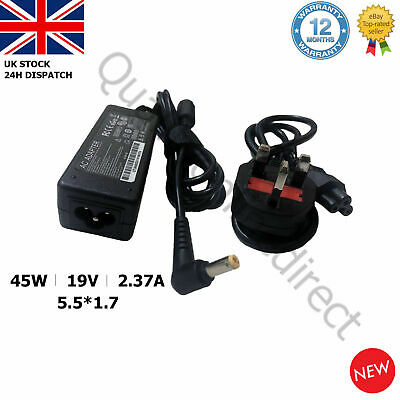 Acer Laptop Charger Adapter Power Supply A13-045N2A 19V2.37A 45W 5.5x1.7mm  • 9.96£