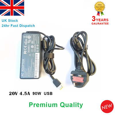 20v 4.5a 90W Fits Lenovo Laptop Charger Adapter Power Supply ThinkPad G405 USB • 9.94£