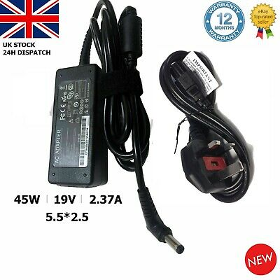 TOSHIBA Laptop Charger Adapter Power Supply PA3822U-1ACA 19V 2.37A 45W 5.5*2.5mm • 10.39£