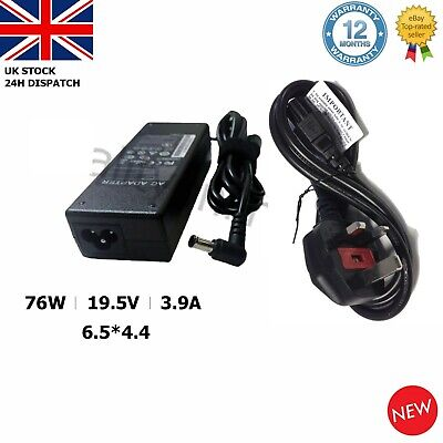 Sony Vaio PCG-7185M Laptop Adapter Charger Power Supply 19.5v 3.9a 76W • 9.94£