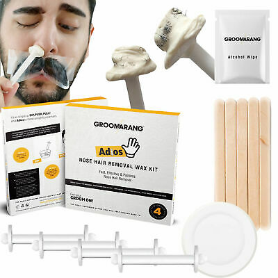 NOSE WAXING KIT By Groomarang | Inc. Nose Wax, Applicators & Moustache Protector • 10.99£