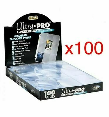 AU47.90 • Buy 100 X ULTRA PRO PLATINUM TRADING CARD 9 POCKET Sleeves Pages NBA AFL MTG NRL
