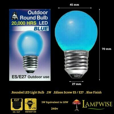 AU11.98 • Buy Bell 1 Watt ES E27 Blue Outdoor Round Bulb Led