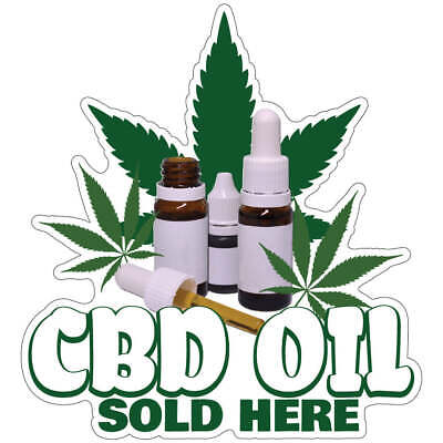 £8.51 • Buy CBD Oil Sold Here Decal Concession Stand Food Truck Sticker