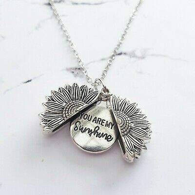 AU14.90 • Buy Silver  You Are My Sunshine  Daisy Flower Pendant Chain Necklace