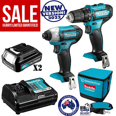 AU247.40 • Buy Makita Cordless Drill Driver Combo Kit With Batteries Charger Li-Ion Work Tools