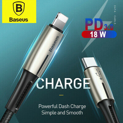 AU17.95 • Buy Baseus 18W PD Type C To Lightning Cable Quick Charging Data Cabel For IPhone 13