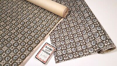 VINTAGE 1950s WAVERLY WALLPAPER ROLL W/ MATCHING GLOSHEEN FABRIC BOLT • 156.30£