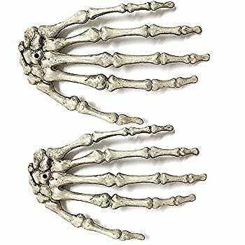 $19.52 • Buy Halloween Skeleton Hands Plastic Life Size Hands For Halloween Props Decoration