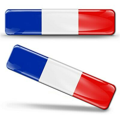 2 X French Flag Stickers France 3D Gel Resin Domed Sticker Decal Adhesive Car F8 • 5.99£