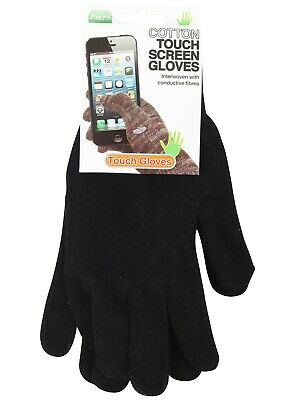 £3.49 • Buy Gloves Thermal Winter Warm Mens Ladies Womens Touch Screen Cotton One Size Black
