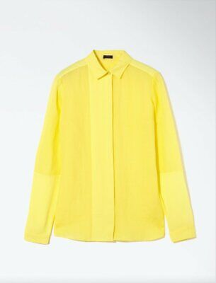 Joseph Ramie Voile And Georgette Dia Blouse Shirt In Yellow F 38 UK 10 US 6  • 64£