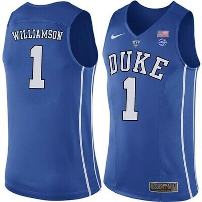 $43.99 • Buy NWT Zion Williamson Duke Blue Devils #1 Adult Stitched Basketball Jersey - Blue