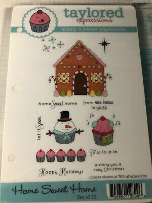 Taylored Expressions Home Sweet Home Cupcakes Christmas Gingerbread  • 9.99$