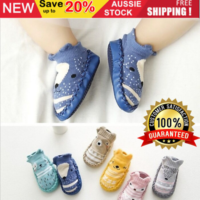 AU12.30 • Buy Baby Shoes Socks Girl Boy Size Toddler Kids First Walker Baby Shower Gift Soft