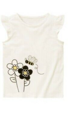 $10.96 • Buy Gymboree Bee Chic 4 5 6 8 Flower Daisy Shirt Top White 11