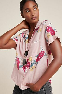 $ CDN66.85 • Buy Anthropologie Rails Rose Floral Buttondown Short Sleeve Size Large