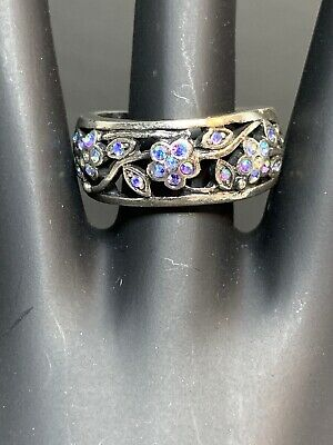 $ CDN30.57 • Buy Lia Sophia Iridescent CZ Floral Ornate Design Ring Sz 8 W/ Gift Box