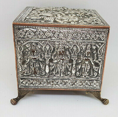 £150 • Buy Used Antique Solid Silver & Copper Indian Case Box