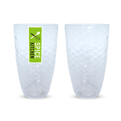 AU39.95 • Buy Plastic Ripple Style Tumbler 600ML Clear Cup Drink Glasses Reusable Beer Juice