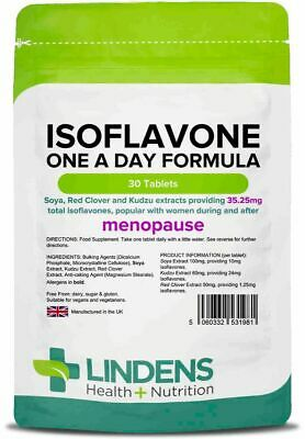 Menopause Releiver Isoflavones (soya) Formula With Kudzu & Red Clover 100% Pure  • 6.99£