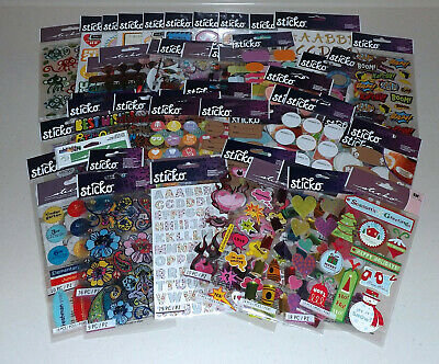 $34.95 • Buy Huge Lot Of Sticko Stickers - 50+ Packs - No Duplicates