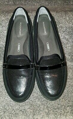 Stunning Womens Ladies Rockport Black Shoes Loafers Size UK 3 Eur 36 VGC • 35£