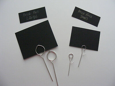 £4.50 • Buy 20or10 Price TICKET /HOLDER Label Counter Display Deli Butcher Food Catering Pin