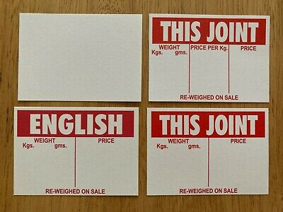 £1.50 • Buy 50 Price CARDS Tickets Labels Counter Display Deli Butcher Cafe Food Catering