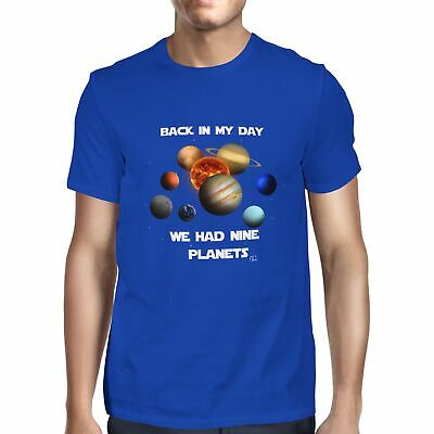 £7.99 • Buy 1Tee Mens Back In My Day We Had 9 Planets T-Shirt