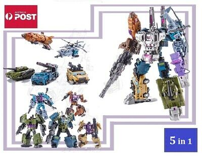 AU110 • Buy Transformers Combaticons / Bruticus G1 Style Robot Toys 5 In 1 Set