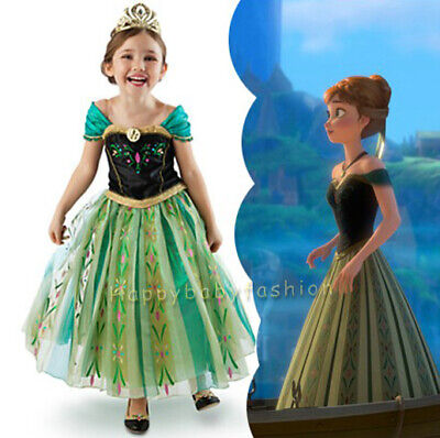 AU20.95 • Buy NEW Girls Dress Costume Princess Anna Cosplay Birthday Party Size 2 -8 Years