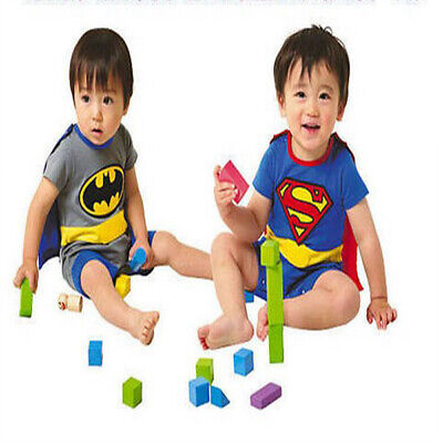 AU12.95 • Buy Baby Boy Girl Superhero Costume Bodysuit Outfit Romper Clothes Size 3-18 Months