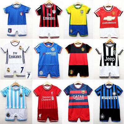 AU19.95 • Buy NEW Baby Toddler Soccer Jersey Bodysuit Romper Jumpsuit Outfit One-Piece 0, 1, 2