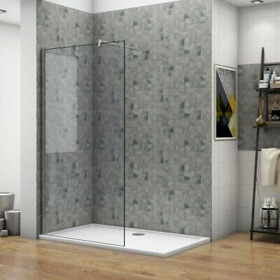 £98.77 • Buy Walk In Wet Room Shower Enclosure Screen Panel Easy Clean Glass Cubicle And Tray