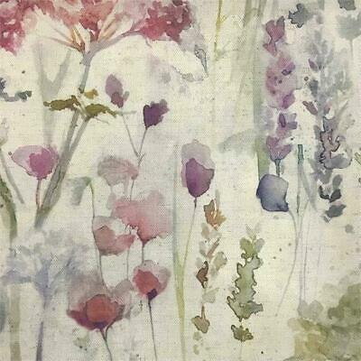 Voyage Decoration Ilinizas Poppy Natural Floral Fabric | Per Meter | In Stock • 24.50£