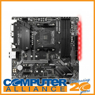 AU179 • Buy MSI AM4 MicroATX B450M MORTAR MAX DDR4 Motherboard
