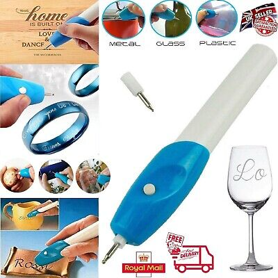 New Handheld Engraving Etching Hobby Craft Pen Rotary Tool For Metal Glass Wood • 7.95£