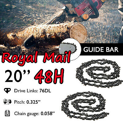 £14.47 • Buy UK 2Pcs 20inch 76 Drive Links Chainsaw Saw Chain Parts Tool Chainsaw Blade New