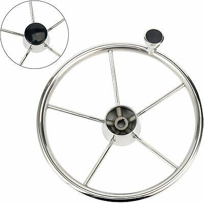 AU48.99 • Buy 5-Spoke Stainless Steel 13-1/2Inch Boat Steering Wheel With Knob For  Yacht Boat
