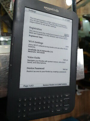 AU120 • Buy Kindle E-Reader 6  WiFi With Keyboard D000901 Minor Crack On Case