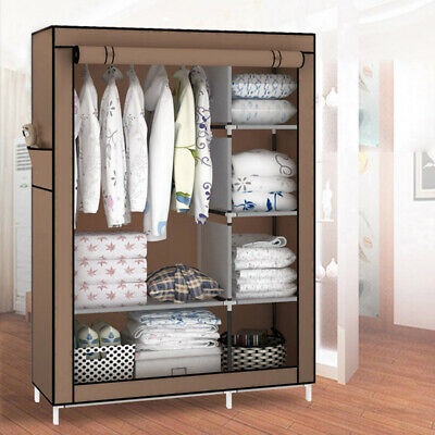 AU29.99 • Buy Large Portable Clothes Closet Wardrobe Storage Cabinet Organizer With Shelves