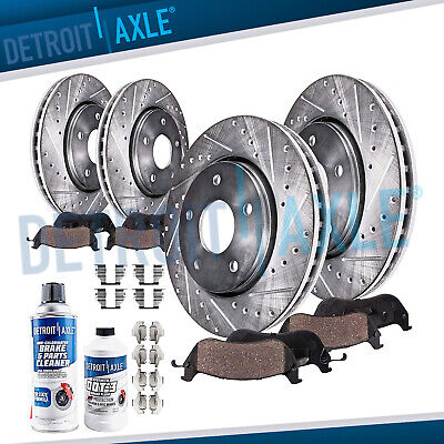 $143.50 • Buy Front & Rear DRILLED Brake Rotors + Ceramic Pads 2005 2006 2007 - 2012 Acura RL