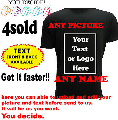 £9.99 • Buy Personalised T-shirt Your Image Printed Stag Hen Custom Photo Party Tee Shirt DT