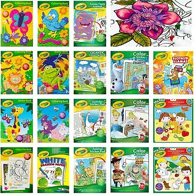 £4.99 • Buy Crayola Children Books - Variety Of Kids Colouring Activity And Sticker Book